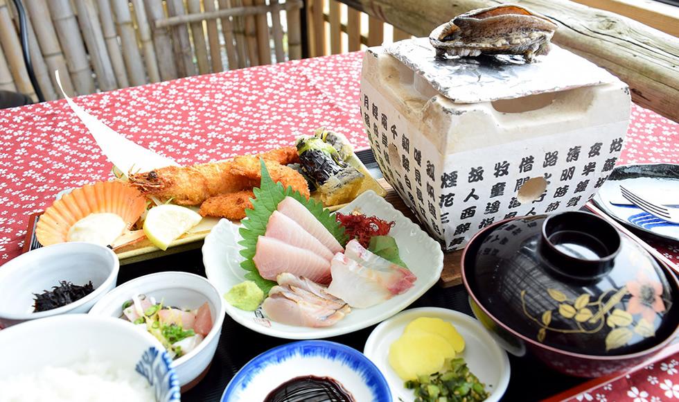 イルカウォッチング + 丸健の豪快昼飯